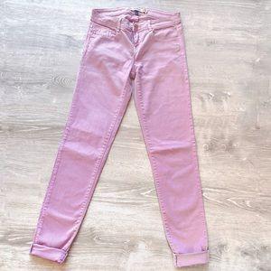 ZARA Trf Core Denim Pastel Pink/Purple Jeans - 4